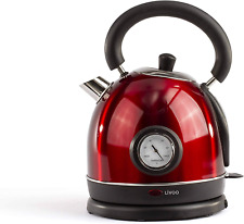 Livoo Dod157 Bouilloire Rétro Vintage Rouge Avec Themomètre Intégré | Capac