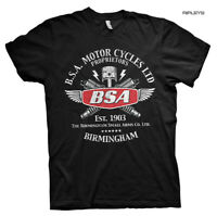 Official T Shirt Motorcycle Bike BSA Est. 1903 Birmingham 'Sparks' All Sizes