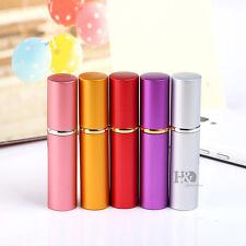 Set 5 Travel Refillable Metal Atomiser Perfume Spray Bottle Empty Lady Gift 11ml