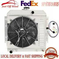 "Plymouth Valiant V8 Custom Aluminum Radiator Fan Shroud /& 16/"" Fan-17 1//2/""H x 22/"""