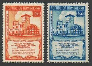 Dominican Rep 412,414 blocks/4,MNH. Constitution-100,1945.Municipal Building.