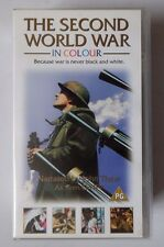THE SECOND WORLD WAR IN NARRATED JOHN THAW COLOUR 2 X DOUBLE VIDEO VHS 164 MINS