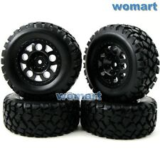 4pcs RC 1:10 Short Course Tires 12mm Wheel For Traxxas Slash 4x4 Rally Truck Car