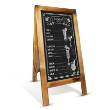 Rustic Blackboard Handcrafted 100 X 50cm Wooden Double-sided Aframe Wedding Sign Antique Wood
