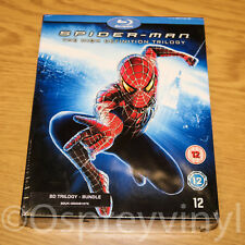 Spider-Man Trilogy Blu-ray 3 Film Box Set Factory Sealed (Please note on the bot