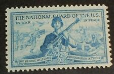 US Scott 1017- US National Guard, In War and In Peace- 3c 1953 MNH OG F-VF