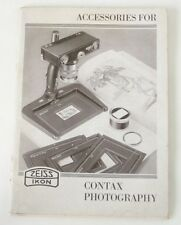 Accessories For Contax Photography 1935 Catalog No. 921 50 735