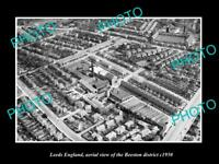 OLD LARGE HISTORIC PHOTO LEEDS ENGLAND AERIAL VIEW OF BEESTON DISTRICT c1950 1