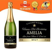 PERSONALISED CHAMPAGNE BOTTLE LABEL BIRTHDAY ALL OCCASIONS GIFT
