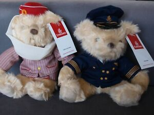 Emirates Airlines Cabin Crew & Pilot Bears BNWTs - BOTH BEARS