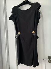 Vestido H&M Versace Negro