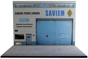 Diorama Garage Saviem - 1/43ème - #43-2-E-E-029