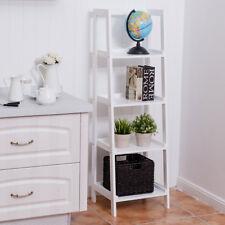 Wooden 4 Tier Wall Ladder Rack Shelf Bookcase Stand Display Unit Storage Shelves