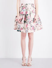 Ted Baker Pink Blossom Jacquard Floral Print Fit & Flare Full Skirt Party 3 12 M