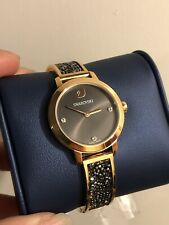 Swarovski Cosmic Rock Watch, Black Crystal/Rose Gold-Plated RRP$499