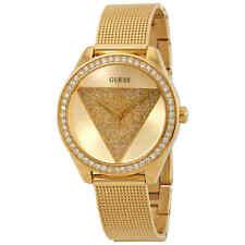 Guess Glitz Crystal Gold Dial Ladies Watch W1142L2