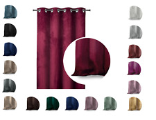 Vorhang Samt Dekoschal Velvet Fensterdekoration Verdunkelung Ösen Farbe wählbar