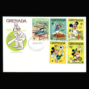 Grenada, FDC, 1979, Disney Characters, Sports, G162-A