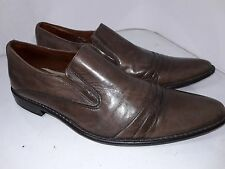 Kenneth Cole Reaction Brown Leather Slip On Loafers Size 12 India Strips inside