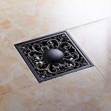 Senlesen Art Carved Oil Rubbed Bronze 4 Shower Floor Waste Drain Cover Washer Ma