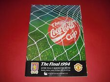 1994 LEAGUE CUP FINAL ASTON VILLA V MAN UTD