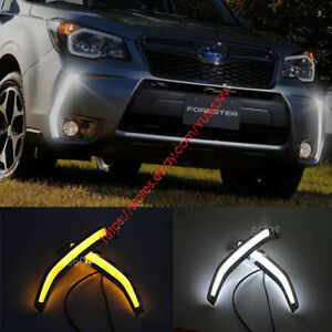 2x DRL LED Daytime Running Lights Drive Fog Signal For Subaru Forester 2013-2015