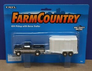 Ertl Farm Country 4564 1:64 90s Ford 4x4 Pickup with Horse Trailer MOC 1996