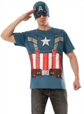 Marvel Captain America Retro Winter Soldier Tee & Mask Costume Adult XL Cosplay