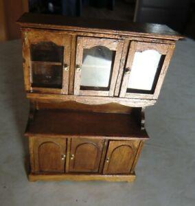 Mini Mundus Küchenschrank Holz Miniatur 1:12
