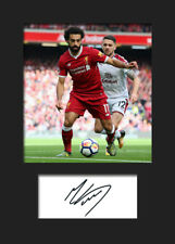 Mohamed Salah #1 - Liverpool Signed Photo A5 Mounted Print - FREE DELIVERY