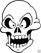 Outline skeleton head vinyl decal, skull head sticker