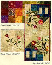 Garden Trio 3 Tablerunner Pieced Applique Patterns Laundry Basket Quilts
