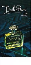 PUBLICITE ADVERTISING 044   1975    EMILIO  PUCCI    parfum VIVARA