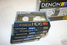 10 Denon HD6-90 Hi Bias Cassette Tapes Made in Japan
