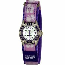 Ravel Hibiscus Velcro Strap Girls Analogue Wrist Watch R1507 Lilac