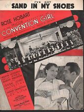 I've Got Sand in My Shoes 1934 Convention Girl Sheet Music