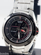 Casio EFA119BK-1AV EDIFICE Thermometer Watch Stainless Steel World Time New