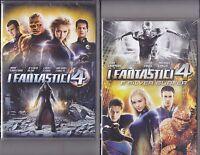 2 Dvd **I FANTASTICI 4 + I FANTASTICI 4 E SILVER SURFER** nuovo 2005-2007