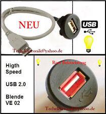 USB Einbaubuchse BELEUCHTUNG 0,5M passend für Audi A1 A3 A4 A5 A6 A8 Radio Car