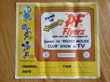 50s P-F FLYERS Canvas Shoes DONALD DUCK SWIFTY MICKEY MOUSE Advertising Banner Y