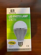CN-15 5600K 15W E27 LED Photo Studio Bulb Video Light Photography Lamp Daylight