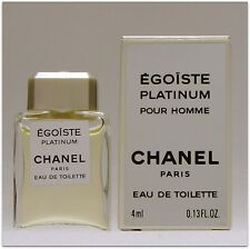 Chanel Egoiste Platinum 0.13oz  4 ml. Men's Eau de Toilette Miniature perfume.