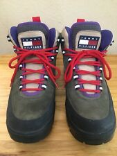 Vintage Tommy Hilfiger Hiking Outdoors Boots 9.5 Purple Red Brown Reflective Vtg