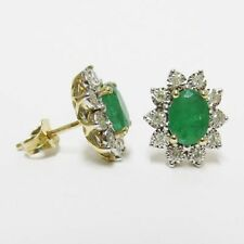 Natural Emerald Stud Fine Earrings