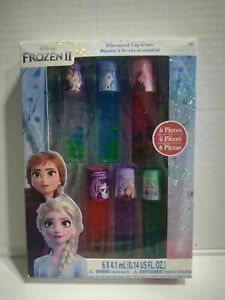 Disney Frozen II Flavored Lip Gloss  Six-Pack NIB