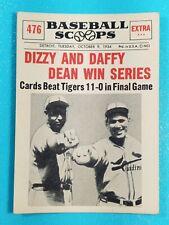 1961 Nu-Card Scoops Dizzy and Daffy Dean Win Series #476 St. Louis Cardinals âš¾