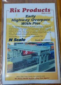Rix Products N #628-152 1930s Highway Overpass -- 50' Deck w/Pier