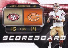 2018 Score Football Jimmy Garoppolo Scoreboard Insert San Francisco 49ers #13