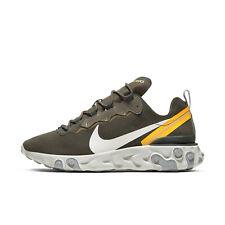 Nike Para hombres Zapatos para Caminar reaccionar elemento 55 entrenadores verde tamaño de Reino Unido 8 CQ6366 300