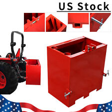 3 Point Ballast Box Mounted Category 1 Tractor Loader Counterweight Attachment
